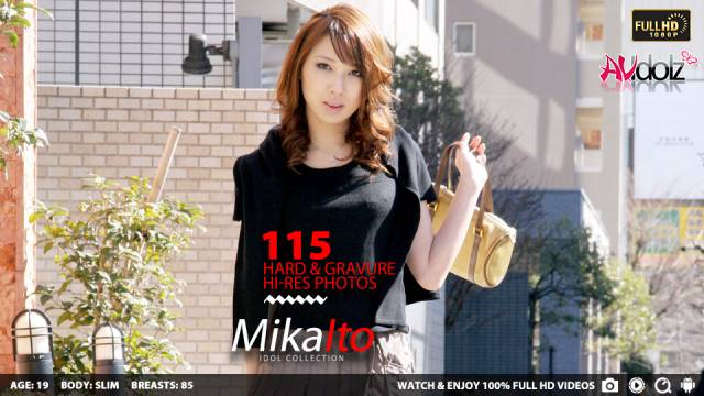 Small titted girl, Mika Ito is doing a...