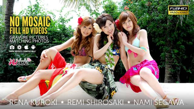Rena Kuroki, Remi Shirosaki and Nami...