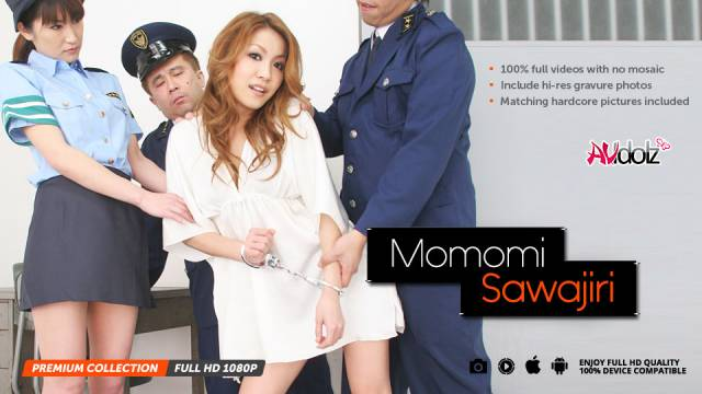 Momomi Sawajiri fucked hard by two policemen