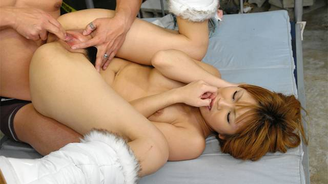 Rio Haruna is fucked so fast in her hairy crack